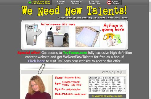 We Need New Talents