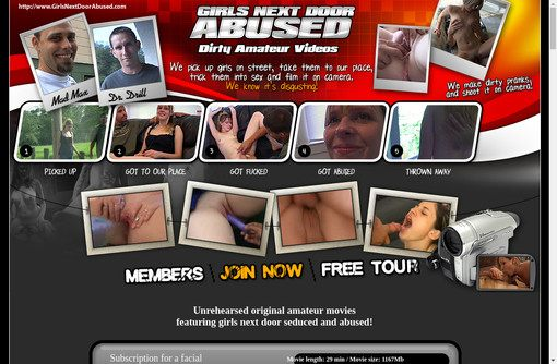 Girls Next Door Abused