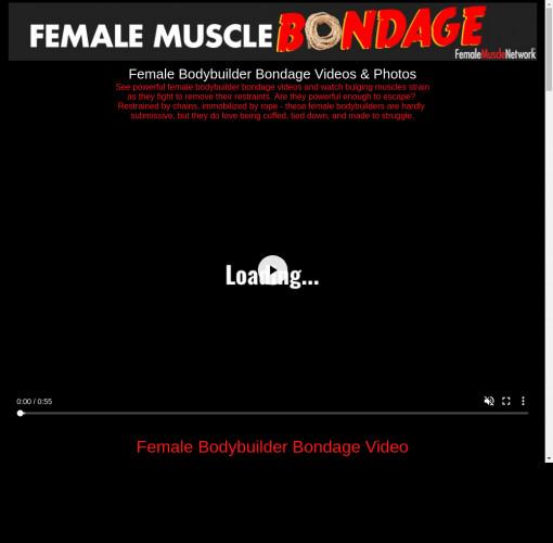 female muscle bondage